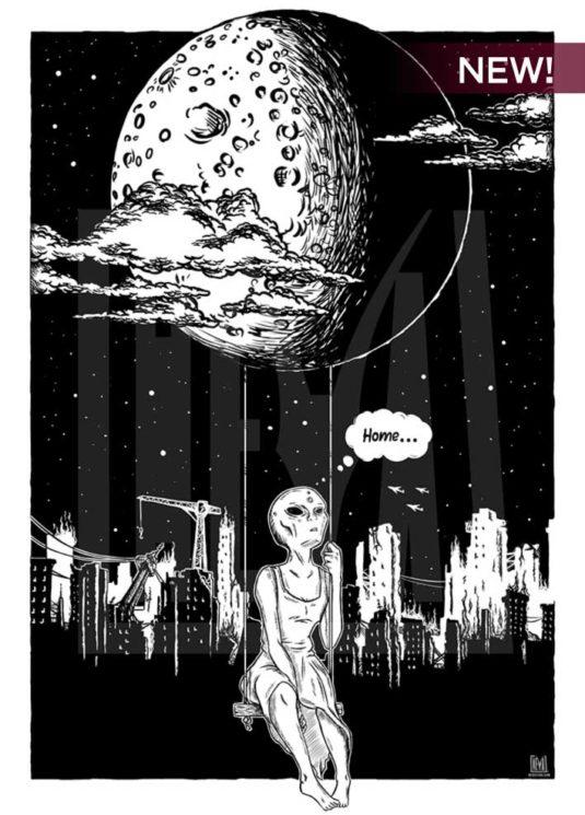 poster-originale-alieno-design-arredo-arredare-heya-quadro-arte-artista-heyastore.com