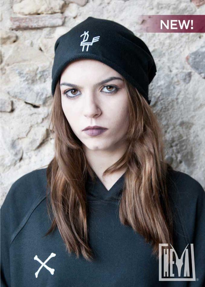 beanie-hat-black-nero-donna-cappellino-pavoncella-heyastore.com